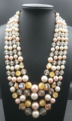 60s -70s Jewelry – Necklaces, Earrings, Rings, Bracelets Vintage Faux Pearl Necklace 1950's 1960's Signed Japan $29.99 AT vintagedancer.com