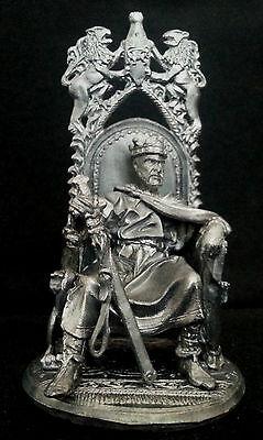 Zinnfigur  König Arthur auf dem Tron 54mm