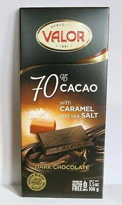 6 Valor dark chocolate bar with caramel and sea salt 3.5 oz best buy