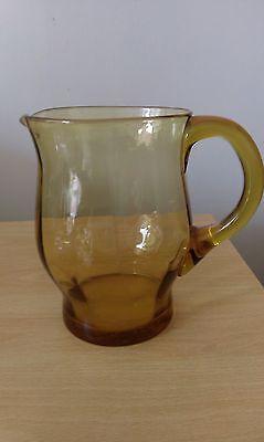vintage amber glass jug