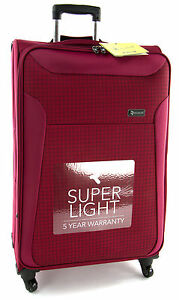 Revelation By Antler Raspberry Nexus Check a 4W Light 77cm Large Suitcase