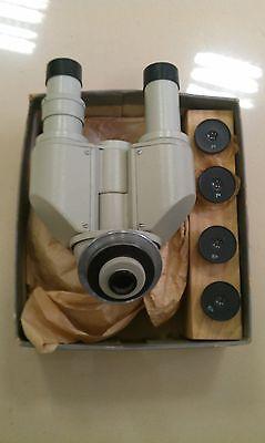 Microscope Binocular Nozzle Au-12 Lomo Ussr Eyepieces