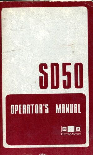 RR SD50 Operating Manual