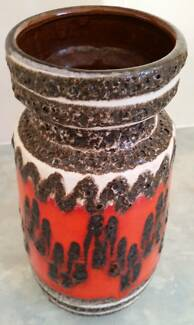 Vintage Retro West Germany Lava Ceramic Vase 242.22