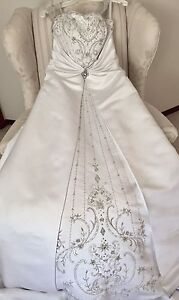 Wedding Dress & Veil - $500 obo