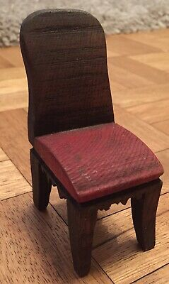 Vintage Dolls House Furniture Ornament Wooden Chair