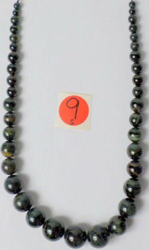 "17"" Strand Gorgeous Natural Dark Blue Tiger Eye Graduated Round Beads 6-18mm"