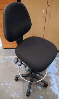 New Ergonomic Drafting Height Adjustable Office Chairs Foot Ring Richmond Yarra Area Preview