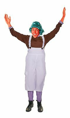 ADULT MENS CHOCOLATE FACTORY WORKER OOMPA LOOMPA FANCY DRESS COSTUME](Oompa Loompa Costume Adult)