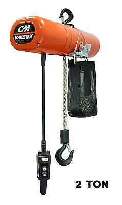 Cmco Lodestar Electric Chain Hoist - 2 Ton Capacity Single Speed 8 Fpm