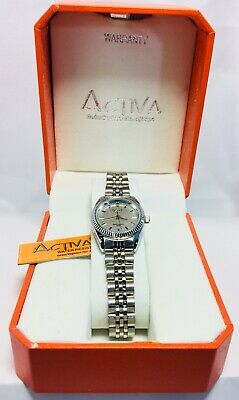 Activa Watch Women's, Stainless Steel Silver Water Resistant 30M, Quartz