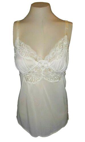 vintage 1960s Cami Camisole Shadowline Nylon Lace White 36