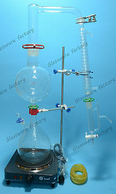 Essential Oil Steam Distillation Kitlab Apparatusgraham Condenser110v Or 220v
