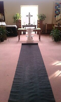 50ft Deluxe Black Fabric Wedding Aisle Runner
