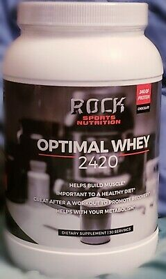 Rock Sports Nutrition Optimal Whey 2420 - 30 Servings, 24G PROTEIN STRONG MUSCLE