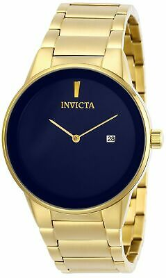 Invicta Men's 40mm Specialty 29472 Quartz 2 Hand Date Gold-Tone Blue Dial Watch