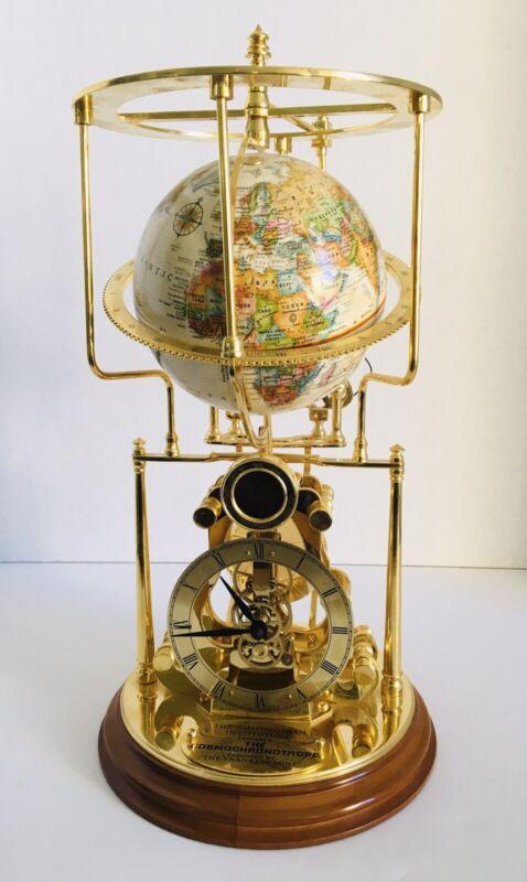 Cosmochronotrope Globe Clock Franklin Mint Smithsonian Institution