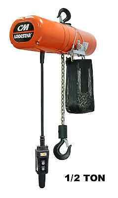 CMCO LODESTAR ELECTRIC CHAIN HOIST - 1/2 TON CAPACITY, SINGLE SPEED 8 FPM for sale  Buffalo