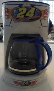 JEFF GORDON Coffee Maker Works Great 10 Cup Capacity Man Cave