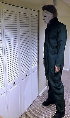 LIFE SIZE Michael Myers Halloween movie mask prop statue comic con horror figure (Life Size Horror Props)
