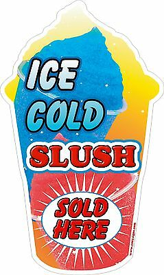 Slush yellow shaped Ice Cold Sold Here  LARGE STICKER DECAL CUT UV LAMINATED