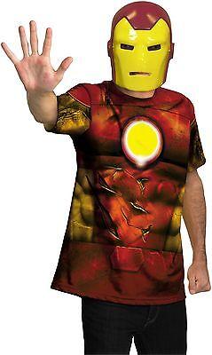 Iron Man 2 Erwachsene Kostüm Größe 42-46 Nwt