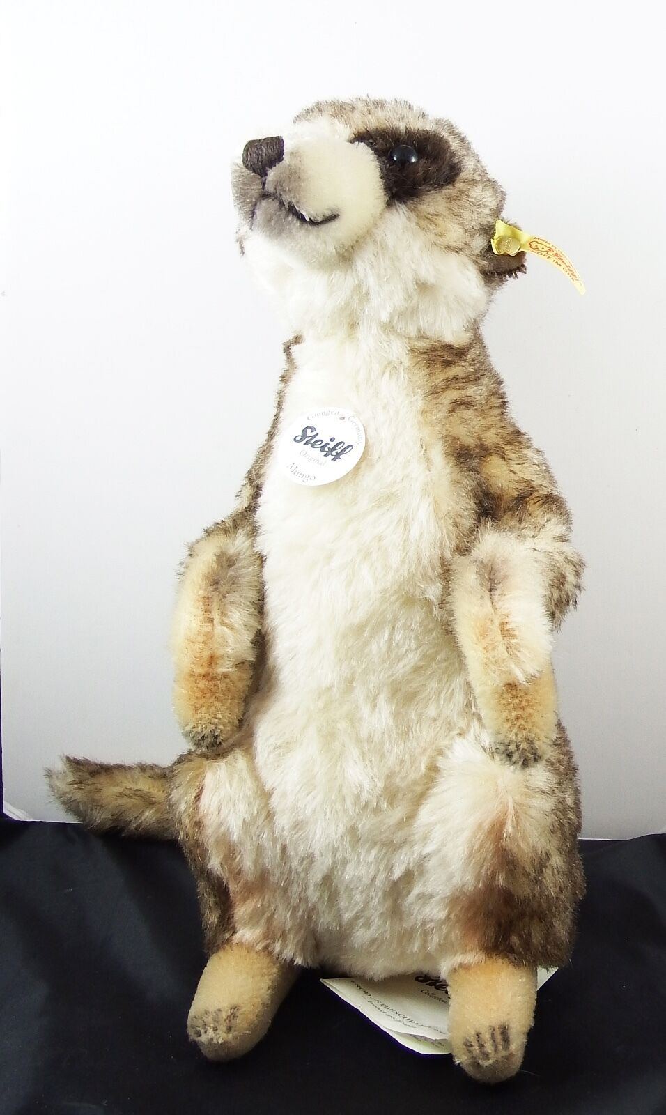 Steiff Mungo Meerkat 071249 Very Cute Mohair With Tags