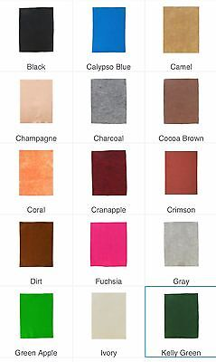 NWT Soft Felt Sheet 1 or 2 mm Various Solid Colors 9x12