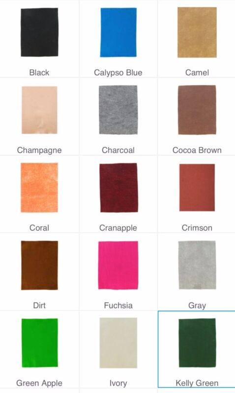 "Soft Felt Sheet 1 or 2 mm Various Solid Colors 9x12"" New Per Sheet/Free Ship"