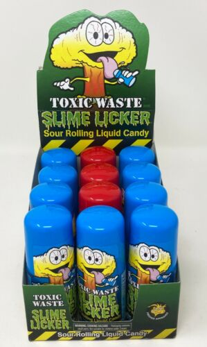 Toxic Waste Slime Licker Sour Rolling Liquid Candy CHOOSE Strawberry / Blue Razz