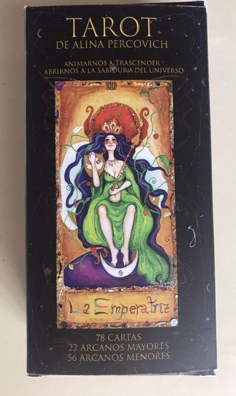 NEW RELEASE!!! UNIQUE DESIGN TAROT BY ALINA PERCOVICH 78 CARDS DECK UNUSED