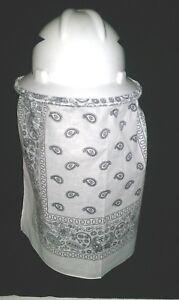 Hard Hat Neck Shade Sun Protector White Bandana