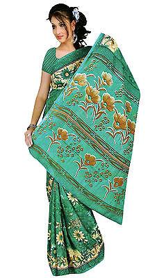 Chiffon Bollywood Karneval Sari Orient Indien Fo331
