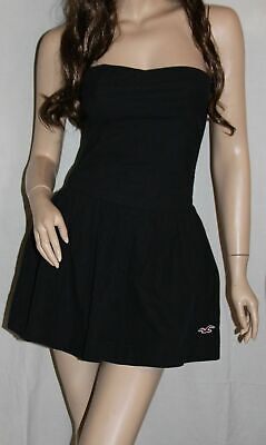 ❤️ NWT HOLLISTER by Abercrombie Womens Point Loma Strapless Sun Dress Navy L