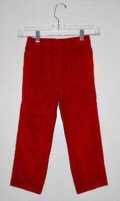 Boys Red Corduroy Pants (NWT Tumbleweed Boys Rich Red Elastic Waist Corduroy Pants sz 5)