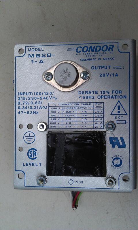 7GG64  LUNAR DPX-IQ BONE DENSITOMETER TRANSFORMER: CONDOR MB28-1-A, 28VDC/1A OUT