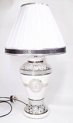 Versace Ornament Lamp Silver and Gold