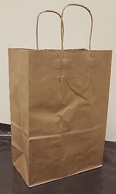 FREE SHIPPING!!! 250pcs Size: 10x5x13 Brown Paper Handle Shopping Bags
