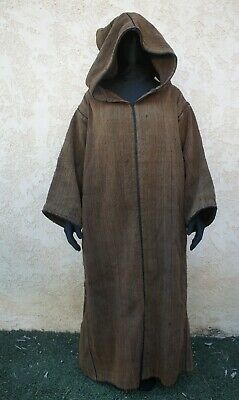 Professional Wizard Cloak Costume Medieval brown heavy Robe kids XL womens S - Kids Medieval Costumes