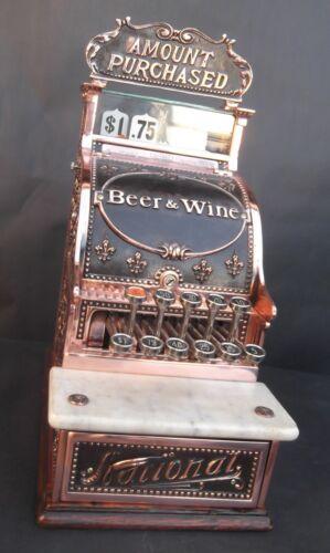 "MODEL 216 RESTORED CASH REGISTER ""BEER AND WINE"" BREAST PLATE"