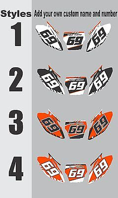 Graphic Kit Number (Graphic Kit for 2009-2015 KTM SX50 SX 50 Number Plates Side Panels Decal )