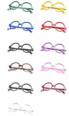 Classic Retro Vintage Glasses Frames Women Men Geek Nerd Costume Eyewear No Lens