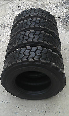 4 - 10x16.5 Skid Steer Tires 10-16.5 - 10 Ply Rating-heavy Duty Non Directional