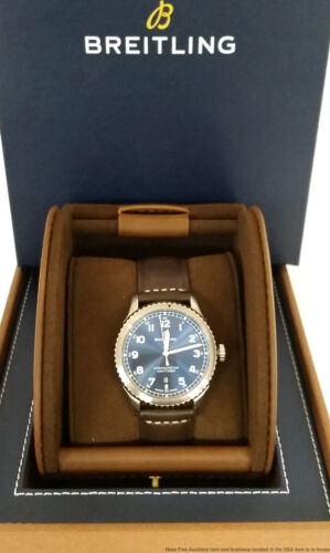 Breitling A17314 Navitimer Chronometer Blue Dial Newest Style Mens Watch Box - watch picture 1