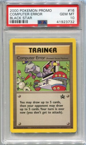 Computer Error Trainer  Glossy Promo Japanese Pokemon Card crisp never played