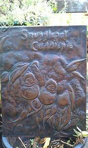 VINTAGE  May Gibbs SNUGGLEPOT & CUDDLEPIE copper beaten raised pl Mermaid Beach Gold Coast City Preview