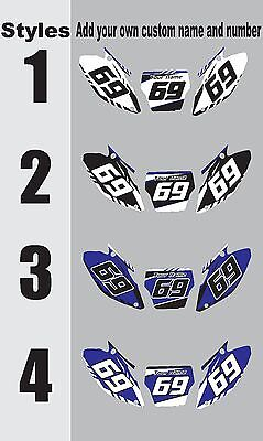 Graphic Kit Number (Graphic Kit for 2015-2018 Yamaha YZ125 250 YZ250 YZ  Number Plates Side Panels  )