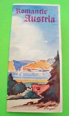 """ORIG'L ca 1936 """"ROMANTIC AUSTRIA"""" TOURIST BOOKLET 28-pgs MAPS Photos XLNT"""
