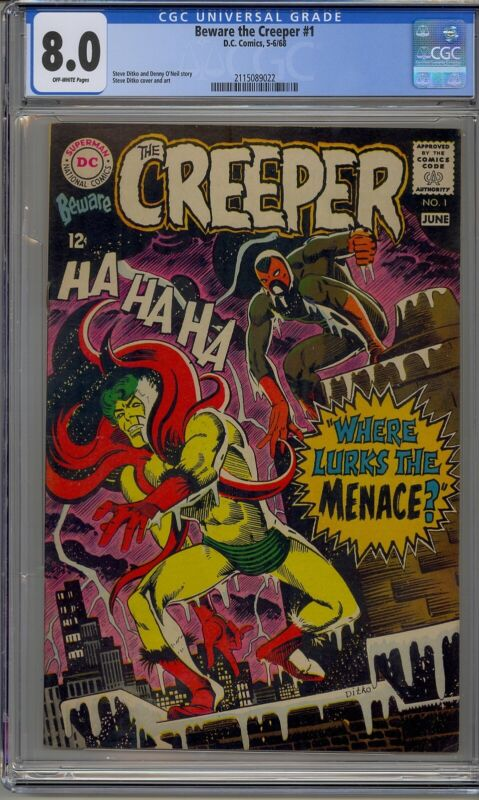 BEWARE THE CREEPER  #1 CGC 8.0