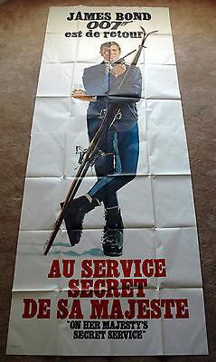 Vintage Original 1969 JAMES BOND 007 - OHMSS Movie Poster 1sh Film ski alps art